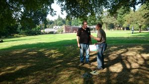 Discussing the location of the features with John Tomlinson, the lead researcher of the project.