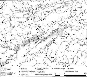Landscape reconstruction around Cardean