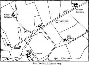 East Coldoch map